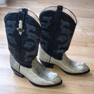 Men's Cowboy Boots Genuine Cobra Head/Snakeskin
